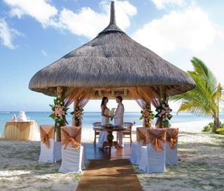 Wedding beach pergola