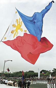 Phil Flag waving big