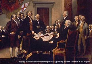 Signing of the declaration of Independence painting