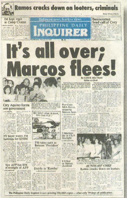 People power Marcos_Flees!