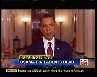 Obama announced bin laden dead