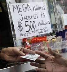 Mega million buying ticket