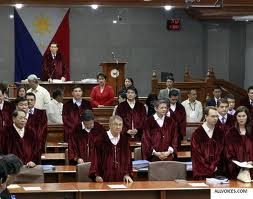 Impeachment trial-senator judges