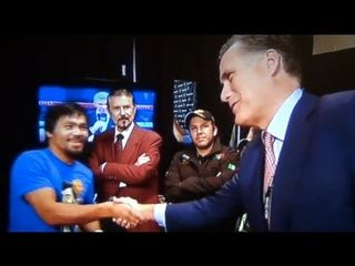 Romney visits Manny 2 hours before fight