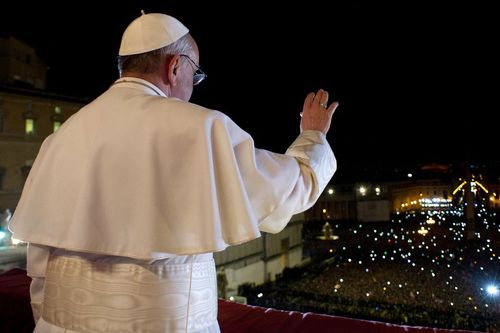 Pope Francis balcony