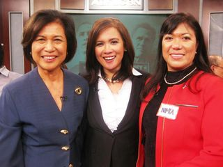 With Loida Nicolas Lewis, Gel Santos Relos and Nimfa Gamze