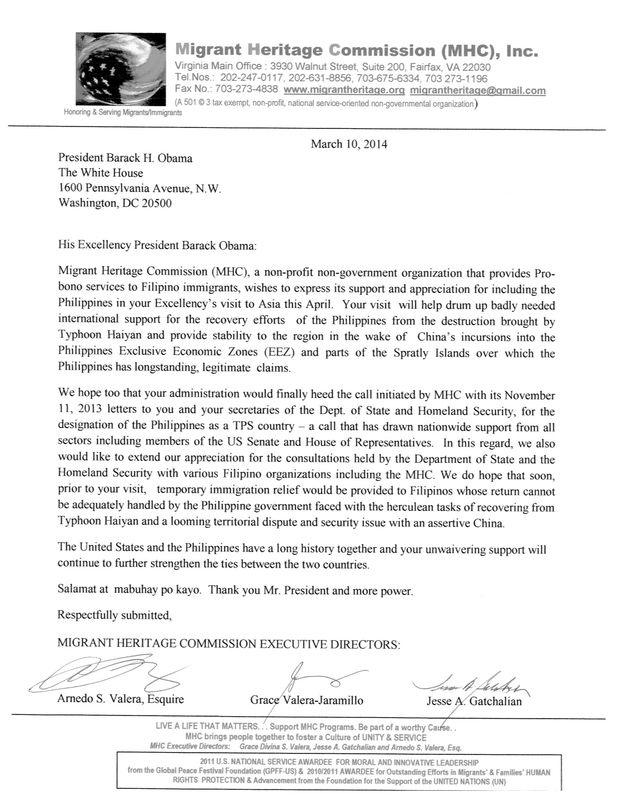 LettertoPresidentObama03-10-2014